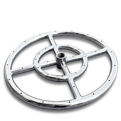 "12"" Stainless Steel Gas Double Fire Ring"